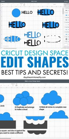 cricut hacks Shapes are one of the most significant features in Cricut Design Space, and on this tutorial, you are going to learn how to use them to perfection. This article is based on m Inkscape Tutorials, Cricut Tutorials, Cricut Craft Room, Cricut Vinyl, Circuit Projects, Vinyl Projects, Cricut Design Studio, Cricut Explore Projects, Software