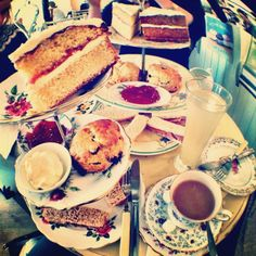 Tea and cake in the Vintage Cake House in Farnham, Surrey