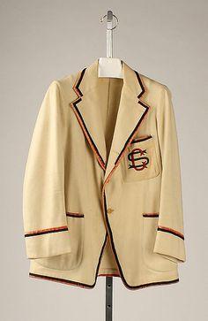Blazer Date: 1924 Culture: American Medium: wool, silk