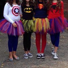 superheroinas disfraces con tutú
