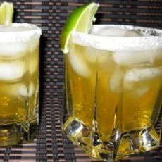 Italian Amaretto Margaritas On the Rocks - I think Josh is going for a whiskey ginger but this is going to have to be my signature drink.