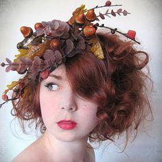 Fall Hair Fascinators From Etsy: Garden Brown | fascinators