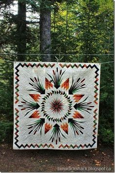 Cattails in the Meadow  gorgeous applique quilt