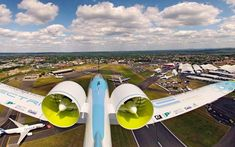 #Electric #aircraft near #take-off...