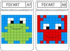Reproduction - le Pixel art - L'école de Crevette