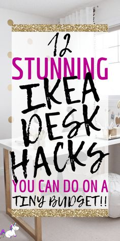 Ideas For Small Desk Organization Diy Ikea Hacks Ikea Hacks, Desk Hacks, Hacks Diy, Craft Desk, Diy Desk, Craft Space, Home Design, Do It Yourself Ikea, Cheap Home Decor