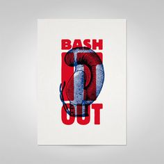 Bash It Out Posters by Ello Mate! , via Behance Poster Prints, Posters, Behance, Words, Cute, Image, Design, Kawaii, Postres