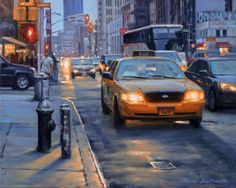 """""""Canal Street,"""" Bruce Braithwaite, oil on canvas, 16 x 19 private collection. New Series, View Image, Art For Sale, Worlds Largest, Landscape Paintings, New York City, Oil On Canvas, Nyc, Urban"""