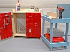 The decorating experts at HGTV.com share how to easily turn a small bookshelf into a workbench for kids' playtime.