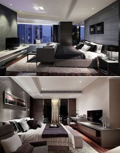 Love the hotel chic look of these bedrooms. Luxury Bedroom Design by Steve Leung_HK
