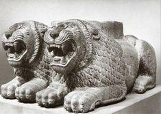 Late Hittite, double- lion column base, Tell Tainat Museum of Oriental Antiquities, İstanbul Antakya Archaeology Museum