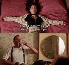 Leon The Professional Iconic Movies, Old Movies, Leon The Professional Quotes, Love Movie, Movie Tv, Movies Showing, Movies And Tv Shows, Natalie Portman Leon, Leon Matilda