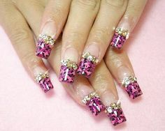 Nail Art on Acrylic Nail Tips - Nail Art Designs Gallery - Zimbio  #timelesstreasure