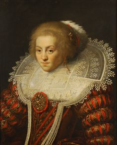 Paulus Moreelse ~ Portrait de dame à la collerette en dentelle ~1623 ~ Paulus Moreelse (1571-1638) was a Dutch painter, mainly of portraits. Other than portraits, he also painted a few history paintings in the Mannerist style and in the 1620s produced pastoral scenes of herders and shepherds.