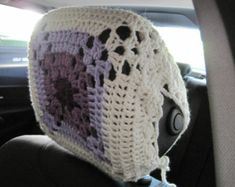 """• Hand-crocheted with 100% acrylic • It fits a standard 46.5-47""""circumference (or 14.5-15"""" in diameter) steering wheel • Can be used all year round • Soft, stretchy, and stylish • fits just right, so it won't slide around • Secured to the wheel with attached strings • Easy to put it on and remove it • Machine wash on gentle cycle and tumble dry on low heat. For best care, hand wash and lay flat to dry.  All my items are made in a smoke-free home.  Important Note: When you purchase this item…"""