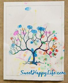 Autumn Fingerprint Tree - Autumn Toddler Activity