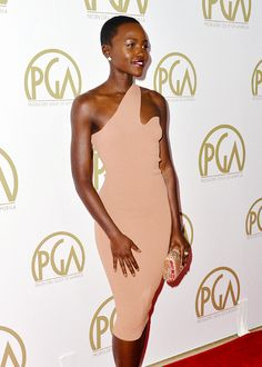 Lupita Nyong'o attends the 25th annual Producers Guild of America Awards at The Beverly Hilton Hotel on January 19, 2014