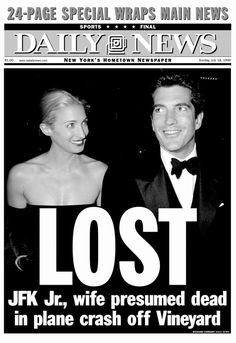 On July 16, 1999, JFK Jr., Carolyn and her sister were flying to Martha's Vineyard on a private plane piloted by Kennedy. When they did not arrive to their destination as scheduled a search party began looking for them, and after a while with no success they were presumed dead. Their bodies were recovered on July 21.