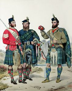 M31. Sgt. James Sutherland, Adam Sutherland & Neil MacKay. Locality: Ben Laoghail with the Kyle of Tongue, Sutherlandshire. Tartans: Sutherland & MacKay.