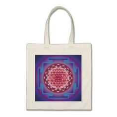 SRI YANTRA - SANCTUARY TOTE BAG #fractal #pattern #accessories Sri Yantra, Sanskrit Words, Geometric Shapes, Fractals, Cosmic, How To Apply, Tote Bag, Pattern, Gifts