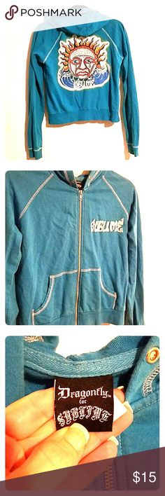 Blue sublime hoodie Retro blue sublime band zip up hoodie!!!! dragonfly for Sublime  Tops Sweatshirts & Hoodies