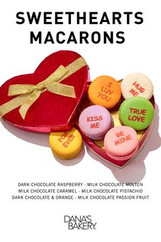 Treat yourself or a loved one with our Sweethearts Macaron Box! Dana's Bakery #macarons are gluten free, kosher & shipped fresh nationwide. To pre-order visit www.danasbakery.com.