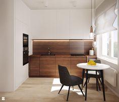Aneks kuchenny z małym stołem jadalnianym - zdjęcie od Karolina Krac architekt wnętrz - Kuchnia - Styl Nowoczesny - Karolina Krac architekt wnętrz
