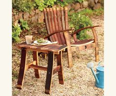 Barrel Stave Adirondack Side Table $229.00