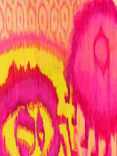 One Kings Lane - Zoe Bios Creative - Lisa Knowles, Dalhia Ikat Ikat Print, Pattern Design, Print Design, Graphic Design, Abstract Pattern, My Favorite Color, Rose, Color Inspiration, Print Patterns