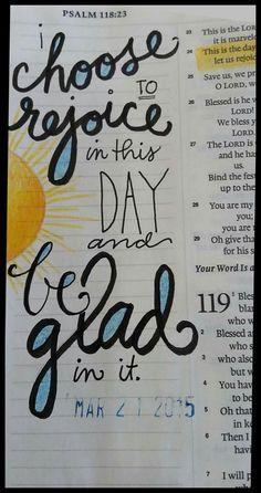 Scripture - Ps 118 #Scripture Art #journalArt by Diane Scott #Choices #Happiness