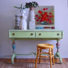 Annie Sloan, Chalk Paint, Entryway Tables, Painting, Furniture, Home Decor, Decoration Home, Room Decor, Painting Art
