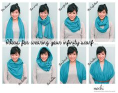 Multi-wear Infinity Scarf by Shop Mochi on Etsy www.parentclub.ca