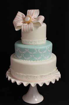 Vintage Fabric, Ruffles & Lace Wedding Cakes | Blog.OakleafCakes.com Boston