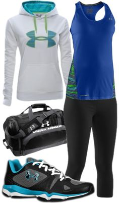 """Work-Out Outfit - Under Armour"" by stay-at-home-mom on Polyvore"