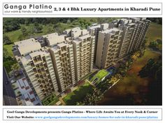 2, 3 and 4 BHK Luxury Residential Apartments for Sale in Kharadi Pune at Ganga Platino