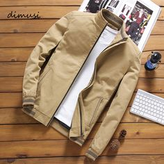 Mode Masculine, Style Anglais, Bomber Coat, Bomber Jackets, Leather Jackets, Streetwear Mode, Streetwear Jackets, Slim Fit Jackets, Polyester Material