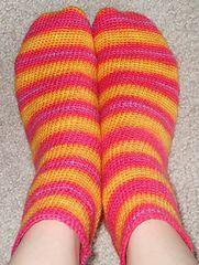 Toe-up Crocheted ankle Socks