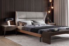 Queen Platform Bed, Interior Concept, Living Room Tv, Upholstered Beds, Bed Furniture, Bed Design, Mid Century, Nirvana, Bedroom Ideas