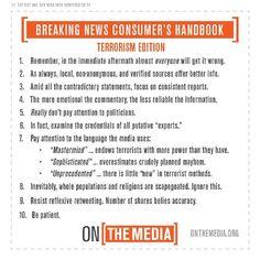 Breaking news consumer's handbook : terrorist edition / @onthemedia   #readyfortransliteracy