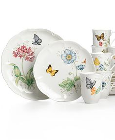 Lenox Dinnerware Butterfly Meadow Sets  sc 1 st  Pinterest & Lenox Serveware Butterfly Meadow Collection | Casual dinnerware ...