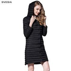 3732f4eac0f SVESIA Winter Jacket Women 2018 Female Parka Coat Feminina Light Down  Jacket Plus Size Hooded Duck