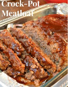 Classic Slow Cooker Moist Meatloaf | AllFreeSlowCookerRecipes.com