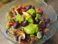 Anne verrät einen tollen Tip: Ofengemüse abgekühlt vom Vortag  und dazu frisches Pesto - fertig!