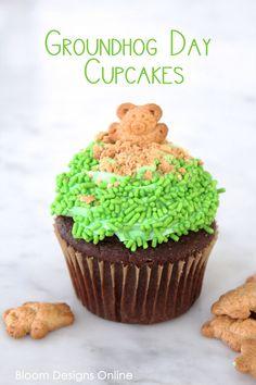 Groundhog Day Cupcake
