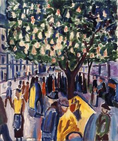 Street with Blooming Chestnut Tree 1926. Edward Munch (1863-1944)