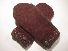MMC0222 Hoxeyville Wool Mittens women med/lg by MichMittensbyLauri, $23.00