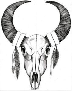 Crâne de Bison blanc sud-ouest par quinndelahanty sur Etsy