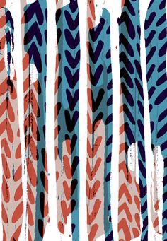 Striped Chevrons - Sarah Bagshaw