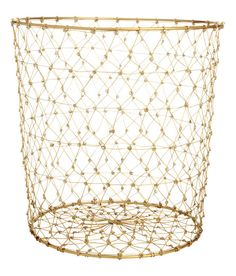 Cylindrical metal wire basket. Diameter 11 3/4 in., height 12 in.