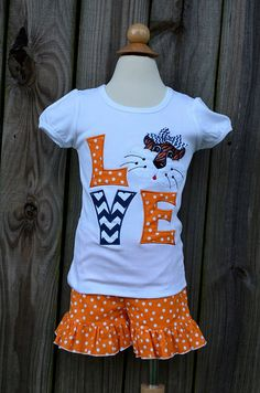 Personalized LOVE Tiger Football Applique Shirt or Onesie on Etsy, $25.00